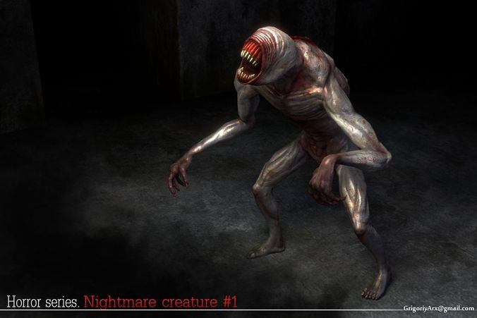 Buy And Sell Apps >> 3D asset Nightmare Creature 1 | CGTrader