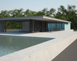 3D model Barcelona Pavilion