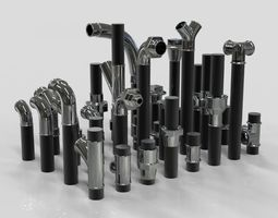 Professional Pipe Collection Kitbash 3D model