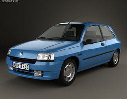 Renault Clio 3-door hatchback 1990 3D