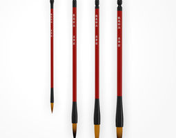 3D model Chinese Calligraphy Brush Pens - Wolf Hair - 4