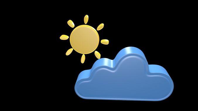 weather symbol 1 3d model obj mtl 3ds fbx blend x3d ply 1