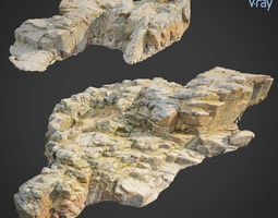 3d scanned rock cliff X