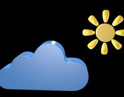 Weather symbol 2 3D