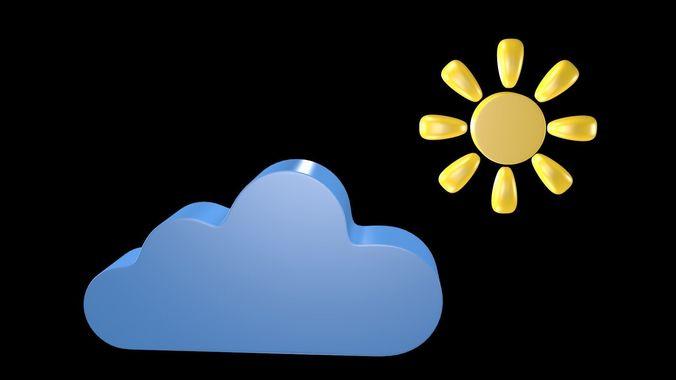 weather symbol 2 3d model obj 3ds fbx blend mtl x3d 1