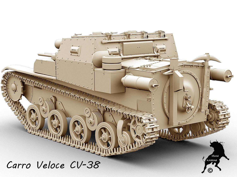 carro veloce cv-38 3d model  max  obj  fbx