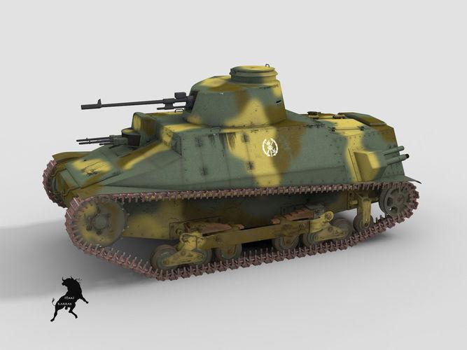 cci de 1937 carro de combate de infanteria 3d model max