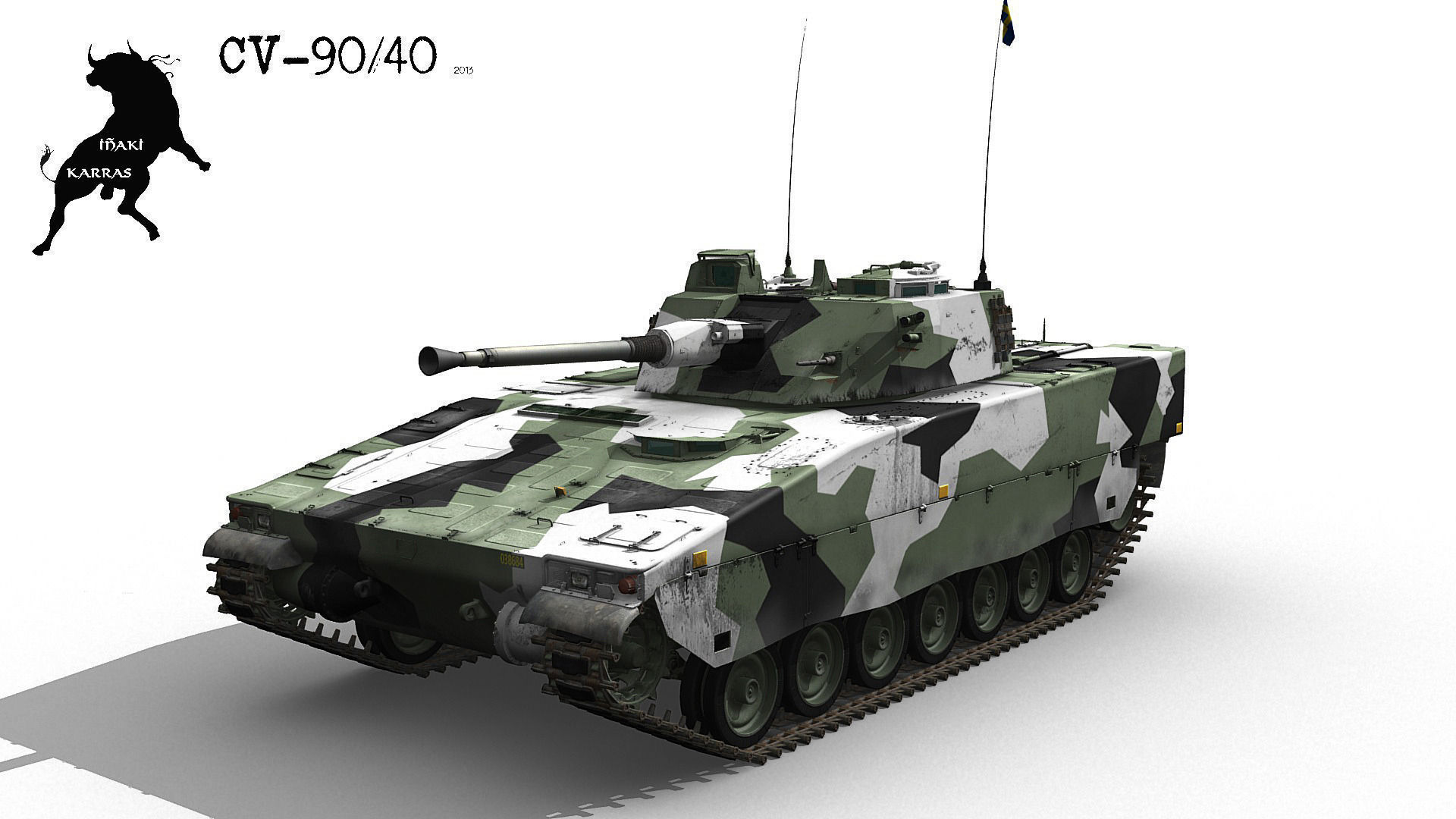 stridsfordon 90 or cv 90 ifv 3d model  max  obj  fbx