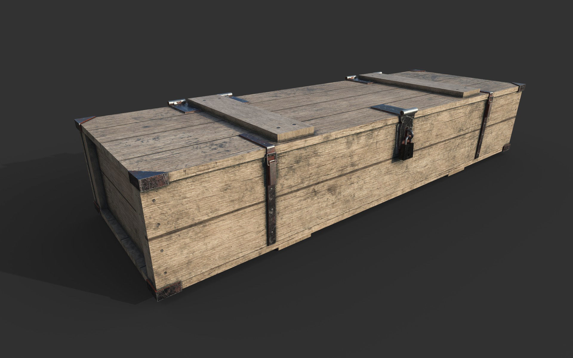 Wooden Weapon Crate 3d Model