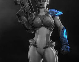 Nova arms armor part from Starcraft HOTS 3D print model