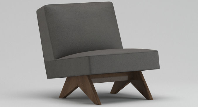 3d Pierre Jeanneret Lounge Chair Cgtrader