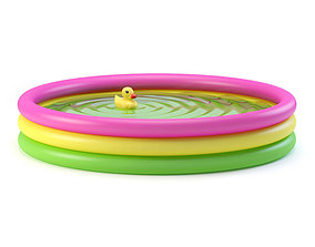 Inflatable pool ripples 3D