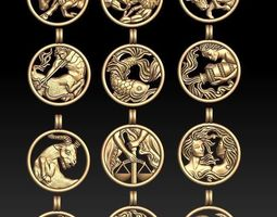 3D print model jewellery horoscope signes pack