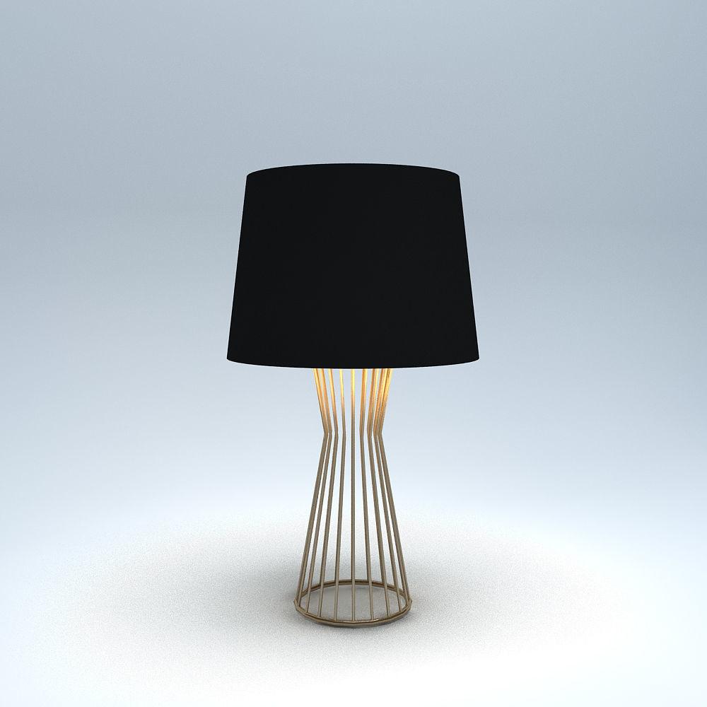 Side Table Lamp Tesla Masa Cgtrader