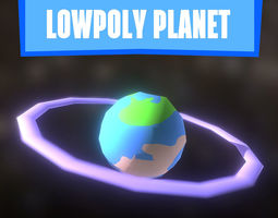 LOWPOLY PLANET 3D model