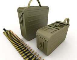 3D ammunition boxes for machine gun