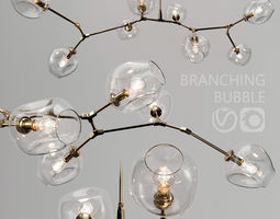 Branching bubble 8 lamps by Lindsey Adelman CLEAR 3D