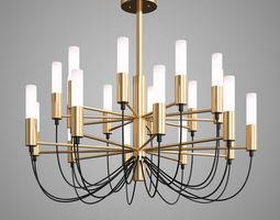 Luxury Lustre Gold G9 Led Chandelier 3D model nice