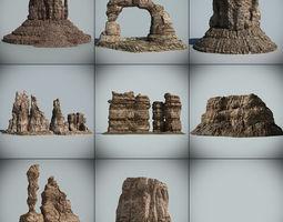 Desert Rock Collection 03 3D Model