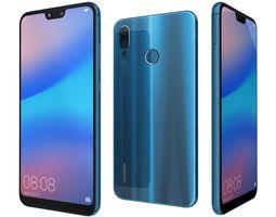 Huawei P20 Lite Klein Blue 3D