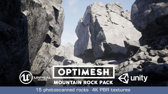 mountain rocks - 3d models pbr pack 3d model obj mtl fbx blend 1