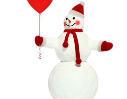 3d model snowman 3