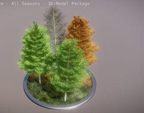 3D model game-ready Platane 12m - All Seasons