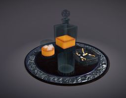 Scotch Serving Tray 3D