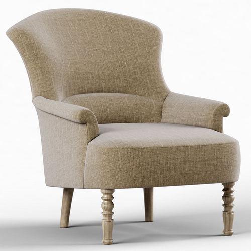 restoration hardware josephine chair 3d model cgtrader