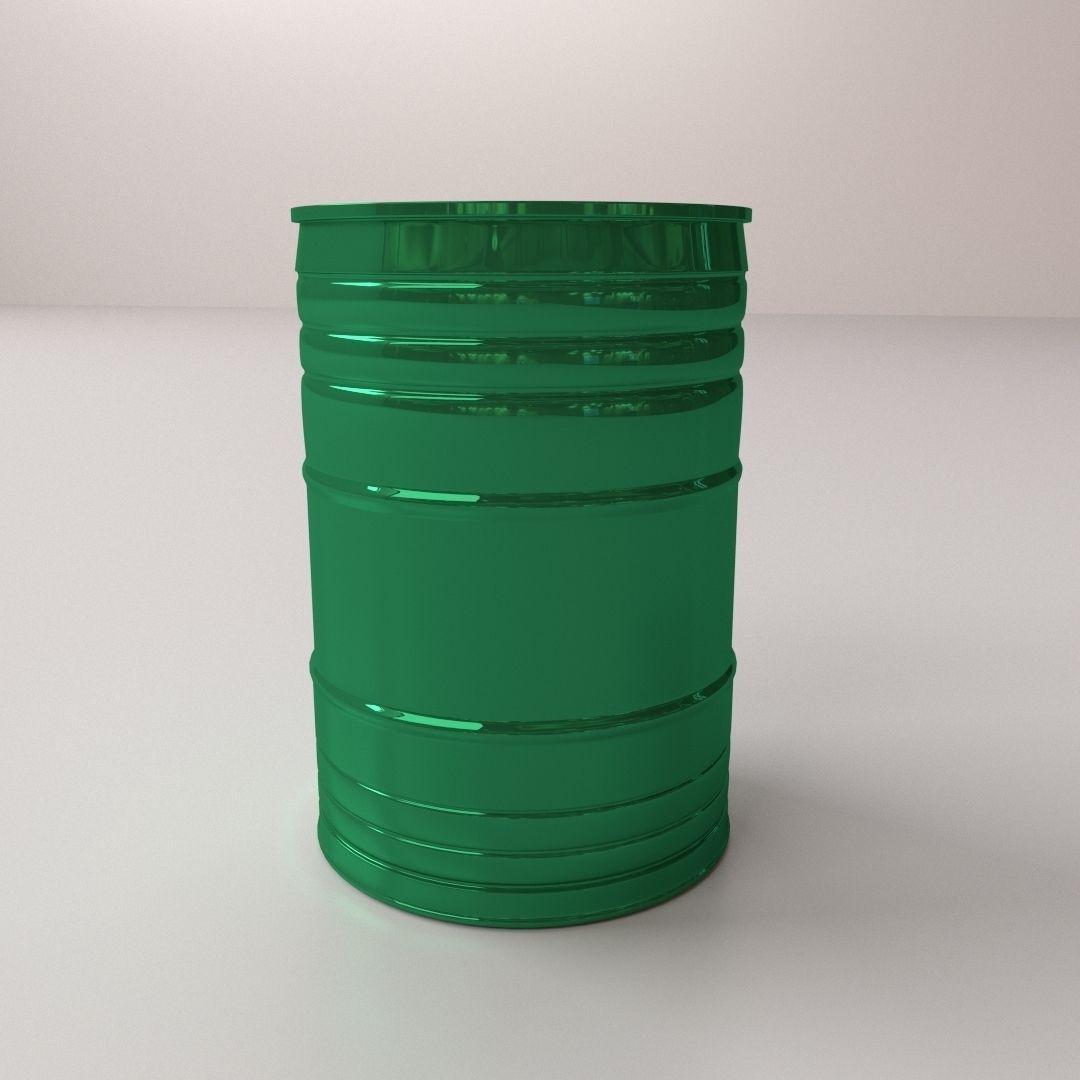 Oil Drum 3D Model 3DS FBX BLEND DAE - CGTrader.com