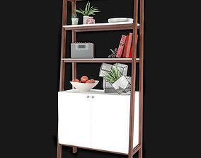 West Elm Modern Cabinet Bookcase 3D model