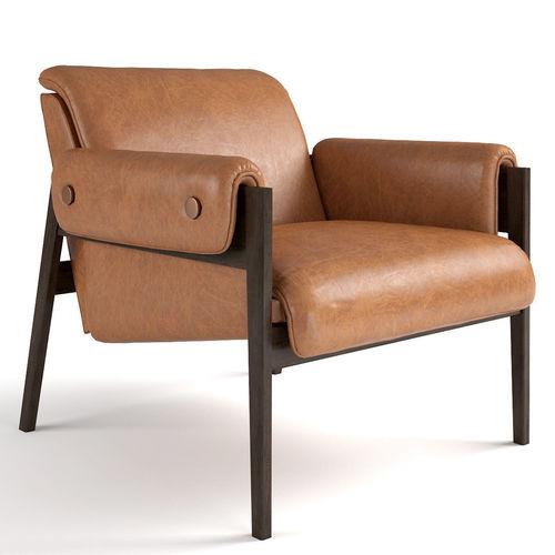 west elm stanton chair 3d model max obj mtl 1