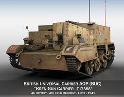 3D model Bren Gun Carrier - BUC - T17358