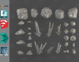 Rocks Pack1 3D model