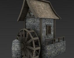 Medieval Watermill 3D model