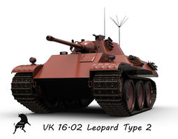 VK  16-02  leopard Prototype 2 3D Model