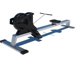 Gym Rowing Machine - Octane and Mental Ray 3D model