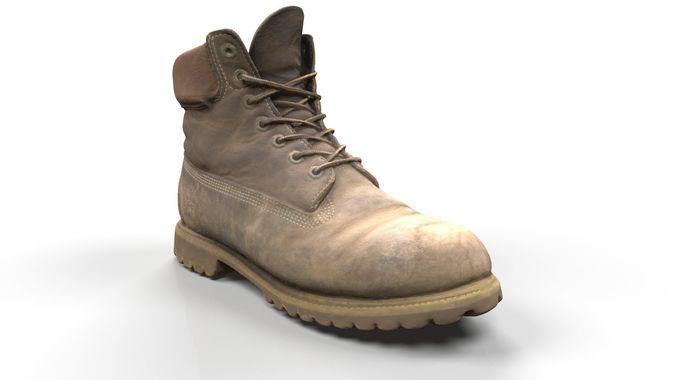 timberland boots scan 3d model obj mtl ztl 1