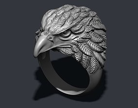 3D printable model Eagle ring male