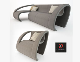 Antidiva Cut Sofa and Chair 3D Model
