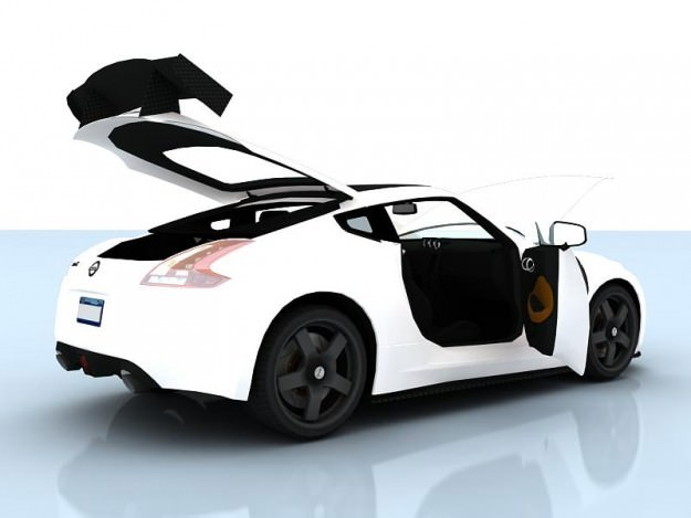 nissan 370z drift 2009 3d model animated rigged max. Black Bedroom Furniture Sets. Home Design Ideas