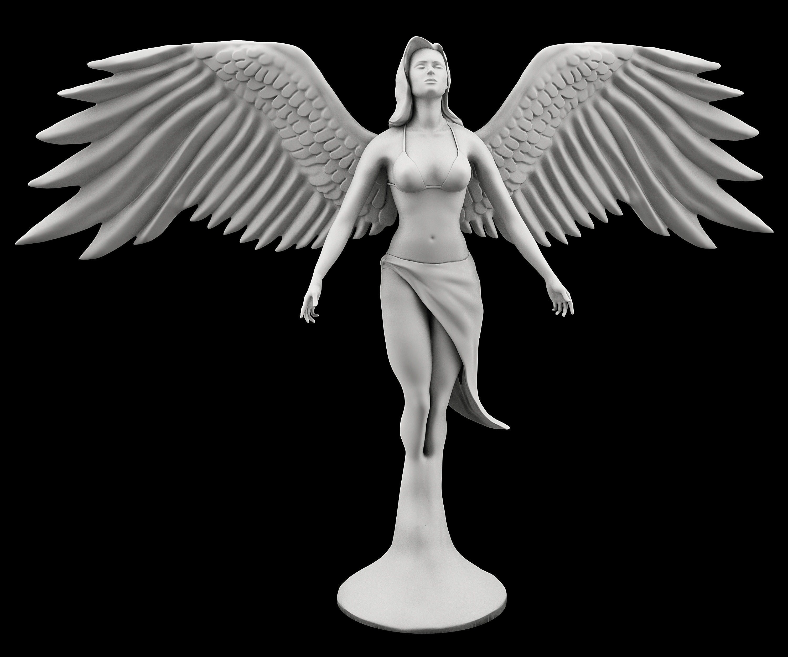 statue of angel 3d cgtrader