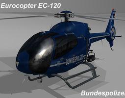 Eurocopter EC-120 Bundespolizei livery 3D Model