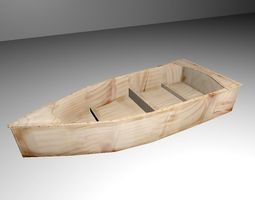 Wooden Boat 3D model VR / AR ready