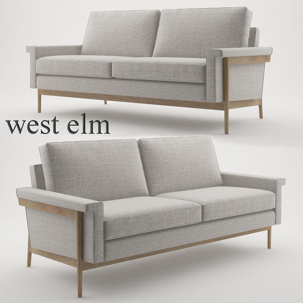 Leon Wood Frame Loveseat 68 By West Elm