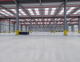 3D model Industrial Warehouse Interior 7