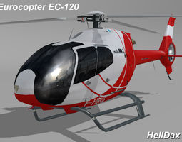 eurocopter ec-120 helidax 3d model low-poly rigged max