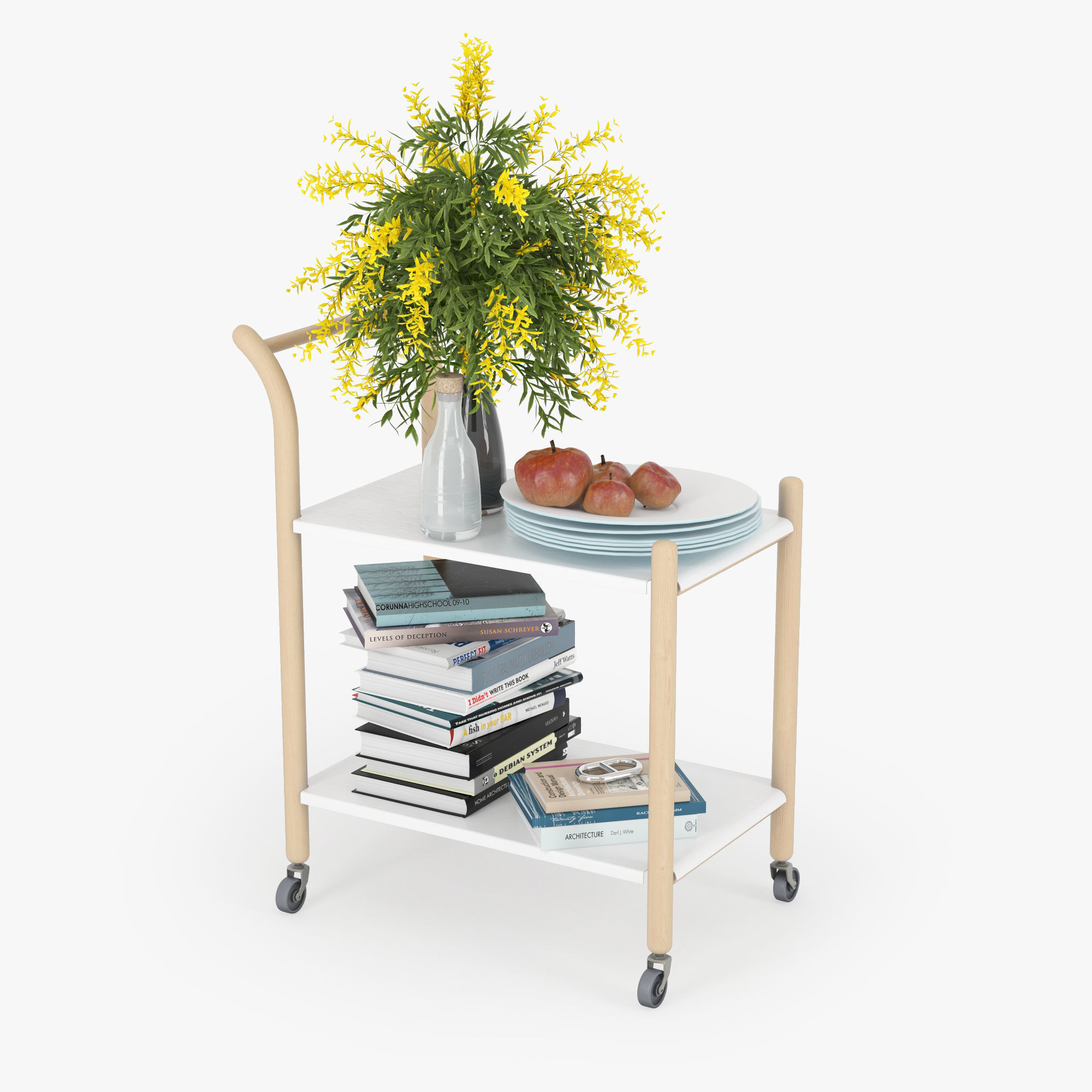 3d Model Ikea Ps 2018 Side Table On Casters Cgtrader