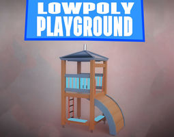 LOWPOLY PLAYGROUND 3D asset