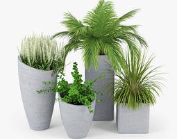 Concrete Plant vase 3D model